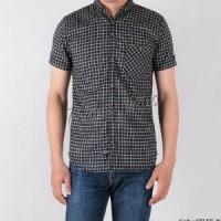 Baju Kemeja Bahan Flanel Pria Lengan Pendek Slimfit / Flannel HOTSale