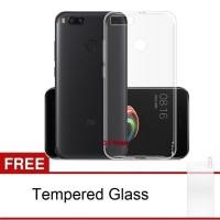 Xiaomi A1 / Mi 5X Case Ultra Thin TPU Softcase FREE Tempered Glass
