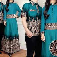 TERBATAS Cp Miranda Baju Batik Pasangan Muslim Lengkap Kemeja Pria Dan