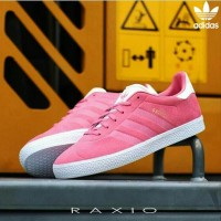 Sepatu Sneakers Lari Olahraga Adidas Gazelle Suede Pink Original Murah