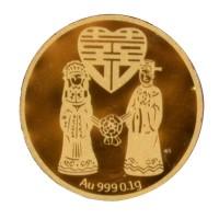 Tiaria 24K Special Wedding Coin Logam Mulia Emas Murni 0.1 gram