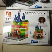 LEGO SEMBO BLOCK TOY STORE WITH LED LIGHT BUILDING BANGUNAN