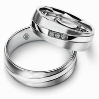 Cincin Pernikahan Cincin Tunangan Couple Bahan Perak Kode 118