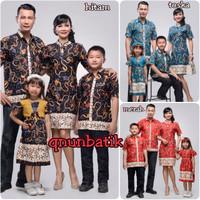 BATIK FAMILY DRESS JUMBO XL CHEONGSAM MELANI MADURA JAYA +2 ANAK