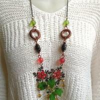 Harga kalung handmade etnik plat bunga kalung panjang tembaga kalung | Pembandingharga.com