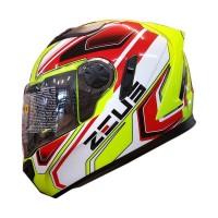 Zeus ZS-813 Helm Full Face - ZYEL#809 AN5 Red Not kyt agv arai shoei
