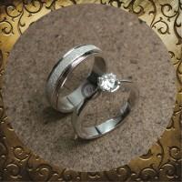 cincin kawin couple emas putih dan palladium p5199