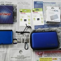 *Rare ITEM* 3DS XL Blue-Black FW 4.5 Gateway READY BAJAKAN