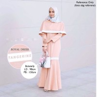Baju Pengantin Royal Dress Balotelly Tangerine Branded Atasan Wanita