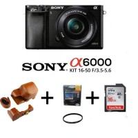 Harga mirrorless digital camera sony alpha a6000 kit lens 16 50mm paket | Pembandingharga.com