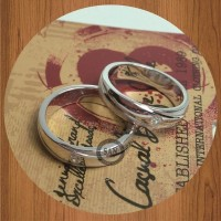 cincin kawin couple emas putih palladium request