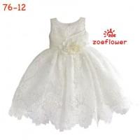 Dress Party Warna Putih Gaun Pesta Anak Lux Clothes Satin Bridal Payet