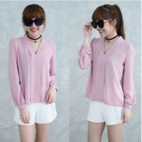 Baju murah [Blouse Maurell D Pink SW] pakaian wanita atasan wolly