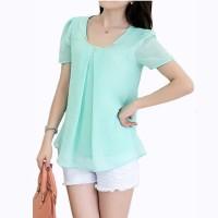 Pakaian Wanita Murah Blus Model Korea Variasi Kalung Baju trendy murah