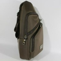 Tas Slempang Shoulder Bag Pria Branded AIGNER GRAY (Bah Diskon