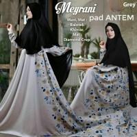 Baju Pengantin Muslimah 120255 GAMIS JUMBO XXL MEYRANI GREY