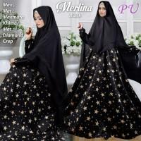 Baju Pengantin Muslimah 120137 GAMIS WANITA SYARI MERLINA HITAM