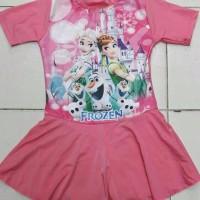Baju Renang Diving Rok Anak SD Gambar FROZEN size M L XL