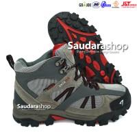 SNTA 481 Sepatu Gunung / Sepatu Hiking / Sepatu Outdoor Grey Red