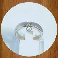 cincin perak singel pernikahan tunangan kawin R 1041