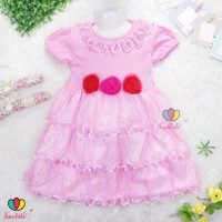 Gaun Merry uk 7-8 th / Dress Baju Pesta Anak Perempuan Import Dress