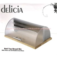 Delicia Roll Top Bread Bin Tempat Simpan Roti -Transparan