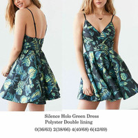 Silence Holo Green Dress
