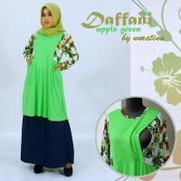 Daffani green gamis dress wanita ibu hamil dan menyusui