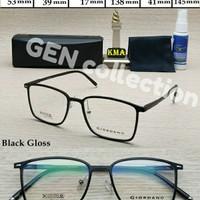 Frame Kacamata GIORDANO Kotak seri CABRIO Ringan dan Kokoh Kuat Hitam