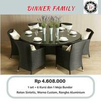 Kursi Makan Rotan Sintetis (Model: Dinner Family)