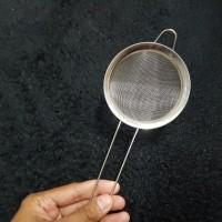 saringan stainless steel besi teh bubur bayi minyak ukuran 10cm 10 cm
