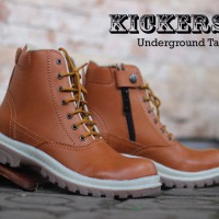 Promo Sepatu Touring Priab Kickers Boots Safety Underground Warna Tan