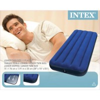 Intex Flocked Air Bed Twin Kasur Ranjang Angin Untuk Di Kamar