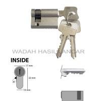 Silinder Kunci Pintu OMGE 1/2sisi 3cm SS