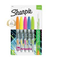 Spidol Sharpie Neon Fine Point Set 5 / Marker Neon Set 5 - Termurah