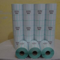 "LABEL BARCODE SEMICOATED 33 X15 3 LINE GAP CORE 1"" ISI 5.000 PCS"
