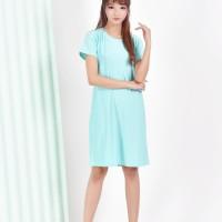 Jfashion Basic Midi Dress Tangan Pendek Gaya Korean - Basic dress