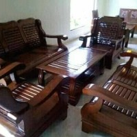 kursi tamu sofa jati gajah retro (Furniture,lemari, teras,meja makan)