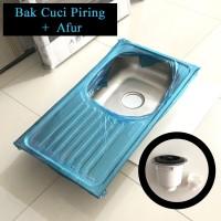 Bak Cuci Piring Stainless 75x40 + Afur / Kitchen Sink