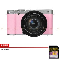 Fujifilm X-A10 Kit 16-50mm Lens  Mirrorless Kamera (Pink )