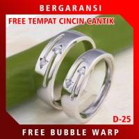 Ring Cincin Perak PROMO Cincin Nikah Tunangan Silver Custom D25