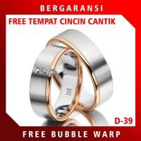 Ring Cincin Kawin Perak HEMAT Cincin Nikah Tunangan Silver Custom D39