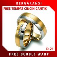 Ring Cincin Perak PROMO Cincin Nikah Tunangan Silver Custom D24
