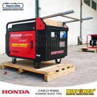 Genset Honda 2 KVA Silent Type (Winpower - HG3000SP) Grosir