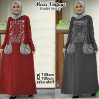 Wanita Gamis Hijab 57283 maxi vintage/maxi dress/dress muslim/baju