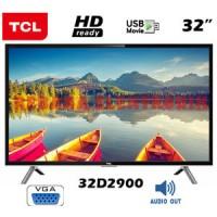TCL 32 Inch LED TV Black 32D2900 USB Movie Bergaransi Resmi