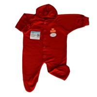 MIYO Baju Kodok Panjang Topi Tutup Kaki Bayi/Baby Merah Diskon