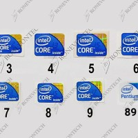Sticker Logo Intel Pentium Core 2 Duo i3 i5 i7 Arrandale PC Laptop