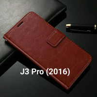 Flip Cover Samsung Galaxy J3 Pro J3pro 2016 Wallet Leather Case