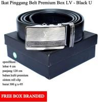 Grosir Ikat Pinggang Sabuk LV Premium Hitam U